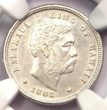 1883 Hawaii Dime (Ten Cents, 10C) - NGC AU Details - Rare Certified Silver Coin!