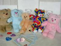 """15"""" HAVE YOUR OWN BUILD A TEDDY BEAR  NO SEW BIRTHDAY PARTY (OPT T-SHIRTS)"""