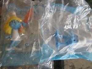 McDonalds 2013 The Smurfs 2 Handstand Hefty and Smurfett's Light Wand