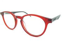 Polaroid Crystal Red Grey Optical Rimmed Glasses Frame PLD D304 1R7
