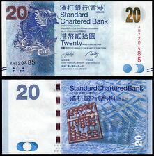 Hong Kong 20 dólares (P297a) Standard Chartered Bank 2010 UNC