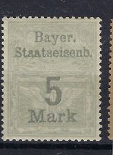 GERMANY - 1910 - BAYER. STAATSEISENB . - FIVE MARK RAILWAY STAMP SEE SCANS
