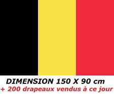DRAPEAU 150 X 90 cm BELGIQUE BELGE BELGIUM FLAG No fanion écharpe maillot ...