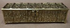GOTHIC ANTIQUE SOLID BRASS CASKET BOX ADOLPH FRANKAU & CO