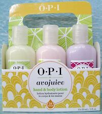 OPI AVOJUICE 24-hour 6-pc Lotion Set~ Lemon Mango Vanilla Coconut Ginger Jasmine