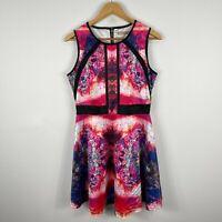 Cooper St Womens Dress 12 Multicoloured Sleeveless Round Neck Zip Closure