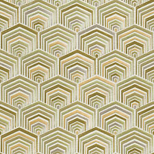 design id Tapete Wallstitch DE120046 grafisch grün Stickoptik textile Optik