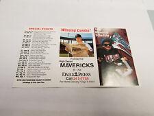 High Desert Mavericks 1993 Minor Baseball Pocket Schedule - Daily Press