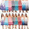 Pistachio Womens Bandeau Floral 3 Way Dresses Ladies Summer Beach Maxi Skirt