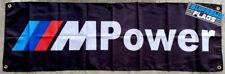 BMW Flag Banner M Power Car Racing Shop Garage Black (18x58 in)