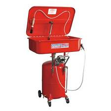 Sealey Mobile Garage Parts/Tool Cleaning Tank Air Operated with Reservoir- SM224