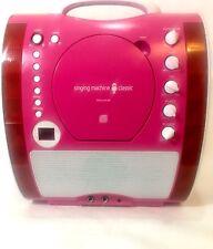 Singing Machine Classic Portable Karaoke System w/ LED Lights SML343P Bonus Disc