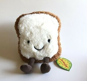 Jellycat Amuseable Small Toast Bread Food Plush, Small, Gift, Cute Funny Appease