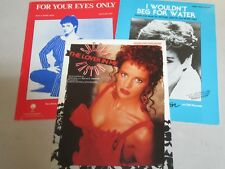 SHEENA EASTON Sheet Music 3pc FOR YOUR EYES ONLY (JAMES BOND), LOVER IN ME. BEG