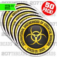50-PACK Essential Worker Sticker Hard Hat Stickers Decals Brotherhood Bulk Lot