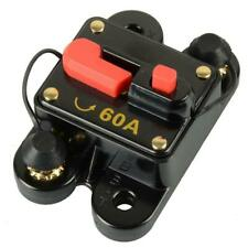 60-Amp Dc Circuit Breaker Car Auto Marine Boat Stereo Audio Fuse Inverter 12/24V