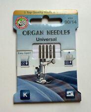 Organ Sewing Machine Needle Flat Shank 5 Pcs. Strength 90