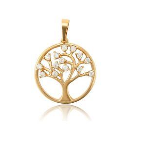 Lebensbaum Kette, Damenschmuck gold, 18 Karat echt vergoldet Callissi