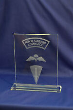 Royal Marines Commando crystal Plaque Airborne Forces, Special Forces & LED base