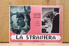 LA STRANIERA fotobusta poster Viviane Romance John Lodge L'esclave blanche L80