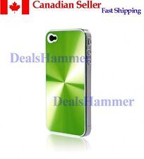 Metallic 3D Premium Hard Case For iPhone 4 + Film GREEN SHIP FROM CANADA
