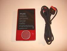 MICROSOFT  ZUNE  RED  80GB...NEW  HARD DRIVE...
