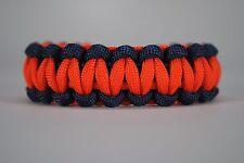 550 Paracord Survival Bracelet Cobra Navy Blue/Safety Orange Camping Tactical