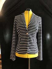BNWT ARMANI Blazer • V Neck • Button closure • Navy & White Stripe Size 42 UK 10