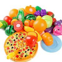 24pzs Juguete de casa de juego de ninos Fruta de corte Pizza vegetales de p B2Z5