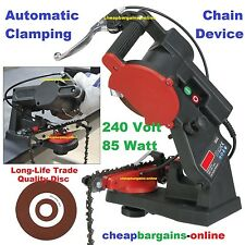 240V ELECTRIC CHAINSAW SHARPENER CHAIN SAW GRINDER SAW CHAIN FILE MILLERS FALLS