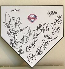 2018 PHILADELPHIA PHILLIES TEAM SIGNED AUTOGRAPHED FULL SIZE HOME PLATE W/PROOF