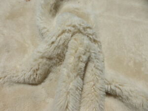sheepskin shearling leather hide Thick Curly Fluffy Natural w/Rust smooth back