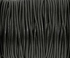 1.5mm Black Round Leather Cord 10 Yards Genuine Leather Cord 136
