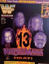 WWF Magazin 4/97 WWE Wrestling deutsch + British Bulldog DIN A1 Poster