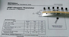 5 unidades motorola j112 N-chn JFET transistor VGS = 35v IG = 50ma case t92 (m1529)