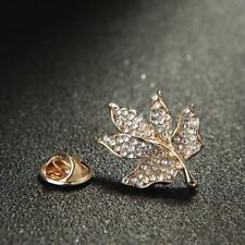 Leaves Pin Unisex Gift Accessories Alloy Brooch Fashion Wedding Bridal Maple