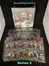 Injustice Arcade GEM MINT Series 2 Full Set w Team Cards and Custom Coll. Binder