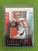 BAKER MAYFIELD ROOKIE RUSH Red Foil RC* Browns 2018 Panini ROOKIES & STARS #RR-1