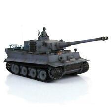 Henglong 1/16 Gray 6.0 Plastic Tiger I Rc Tank 3818 360° Turret Barrel Recoil