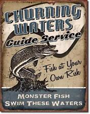 Angelsport Angler USA Metall Deko Schild - Monster Fisch