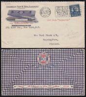 US Postal Cover Lennox Hack Saws NY to Helsinki Finland 1928 via SS Majestic