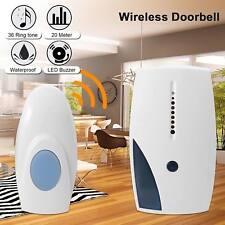 Wireless Door Bell 36 CHIME Home Cordless Portable 20M Range Digital Doorbell