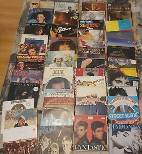 50 Vinyl Records approx + Carry Case VG+ to Near Mint.