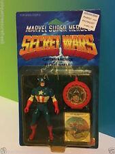 1984 MATTEL MARVEL SUPER HEROES SECRET WARS FIGURE MOC AVENGERS CAPTAIN AMERICA