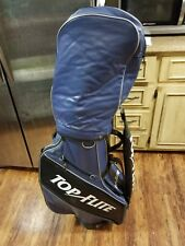 Vintage Top Flite Golf Bag 6-Dividers Blue with Rain Cover