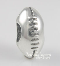 FOOTBALL 925 Sterling Silver COLLEGE HIGH SCOOL SPORTS Bead/European Charm NEW