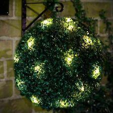Solar Powered Topiary Ball 20 LED Light Front Door Garden Hanging Basket Ball