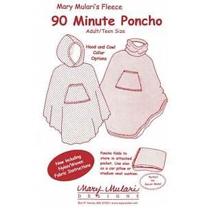 "MARY MULARI DESIGNS ""90 Minute Poncho"" Sewing Pattern"