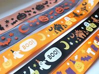 """1M HALLOWEEN PUMPKIN TRICK OR TREAT BOO GHOST WITCH RIBBON TRIMMING 25MM 1"""""""