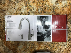 Pfister F‑529‑7SLS Selia Kitchen Faucet Stainless Steel Brand New